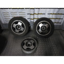 3 LLANTAS ALUMINIO CITROEN AX GT GTI 165 65 13 76 T - 2 CON NEUMATICO USADOS