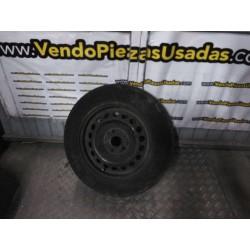 1 LLANTA DE HIERRO DISCO VOLKSWAGEN CADDY 205 60 15 GASTADA
