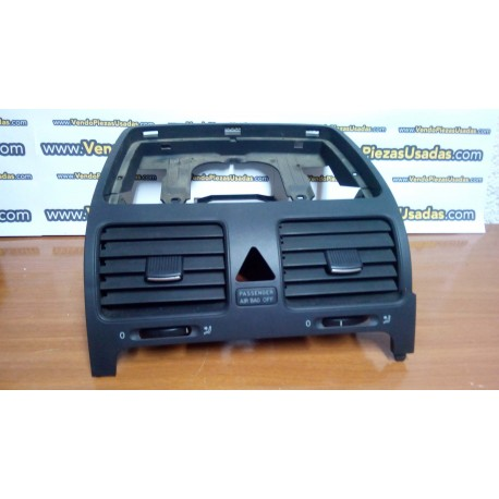 GOLF 5 - EOS - JETTA 3 - rejilla central difusor de aire warning 1K0819743B